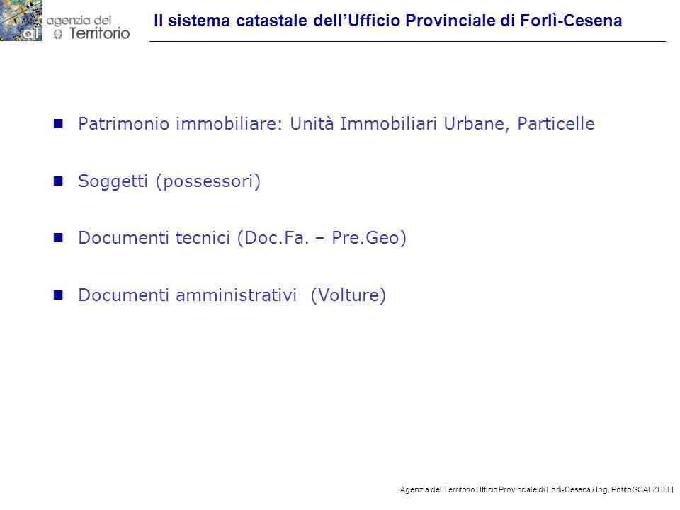 Il sistema catastale dell'Ufficio Provinciale di Forlì-Cesena