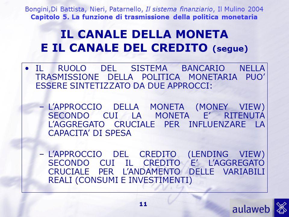 E IL CANALE DEL CREDITO (segue)