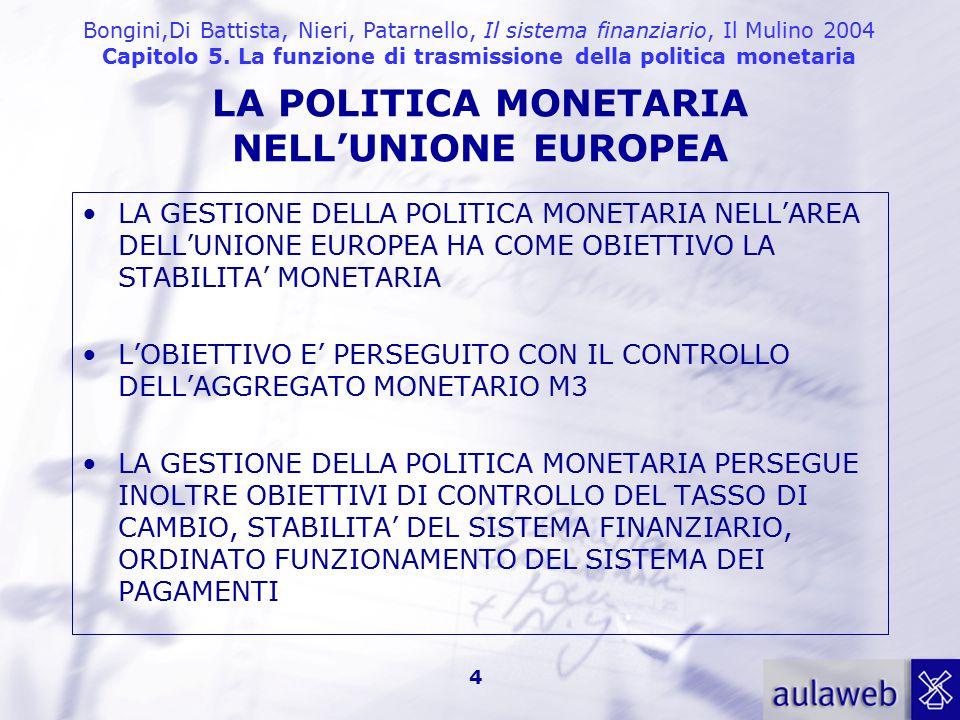LA POLITICA MONETARIA NELL'UNIONE EUROPEA