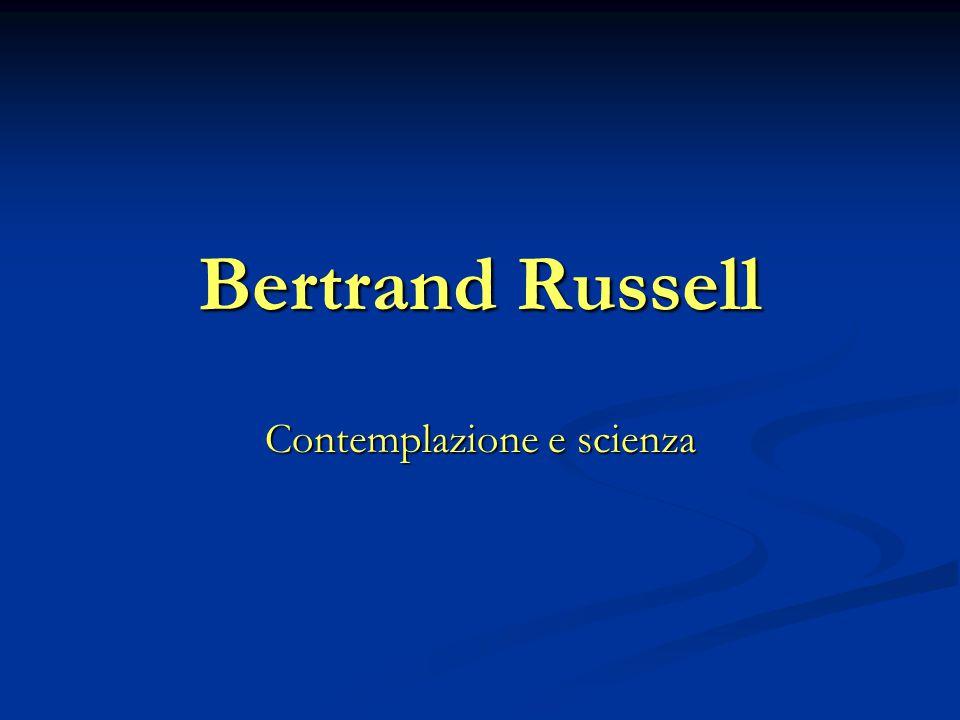 Contemplazione e scienza