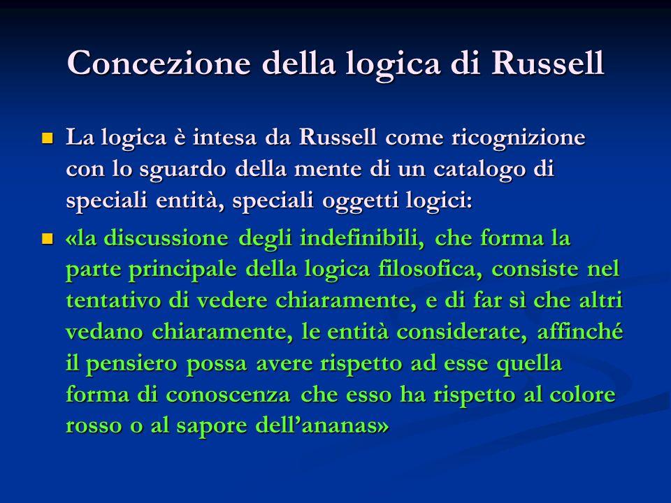 Concezione della logica di Russell