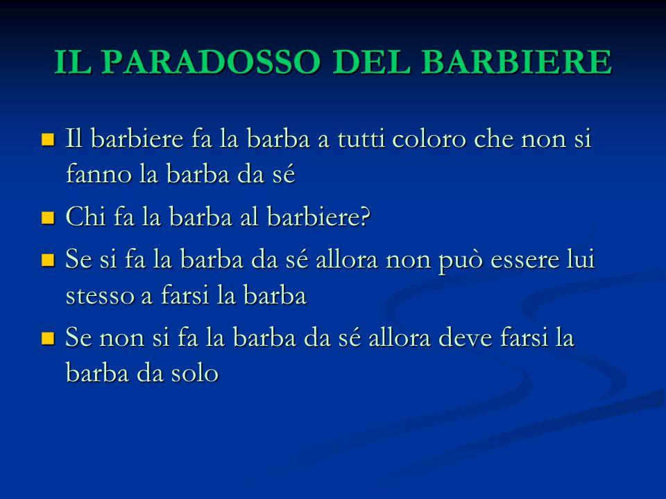 IL PARADOSSO DEL BARBIERE