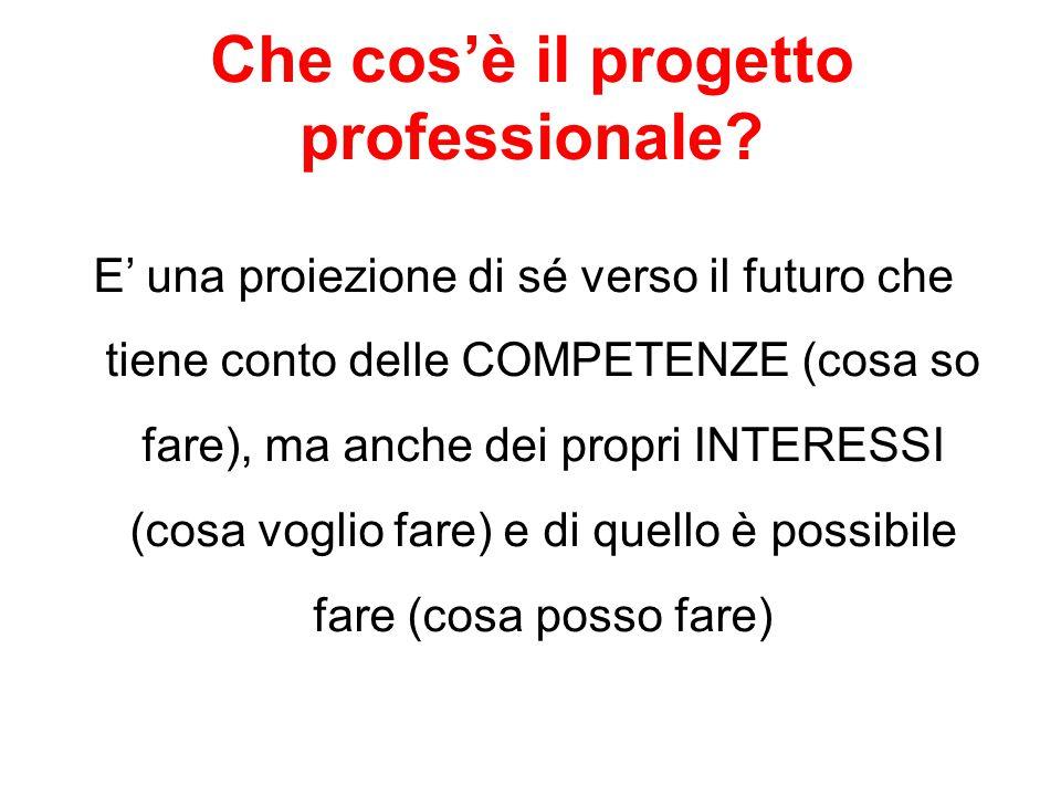 Che cos'è il progetto professionale
