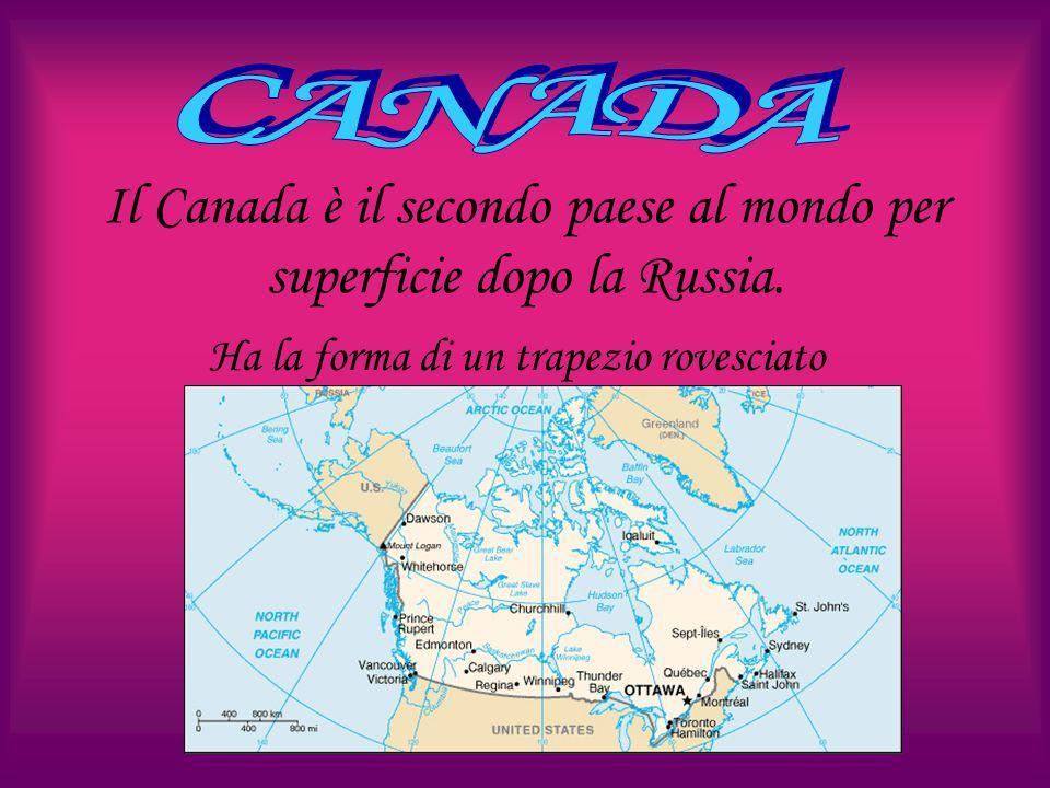 Il Canada è il secondo paese al mondo per superficie dopo la Russia.