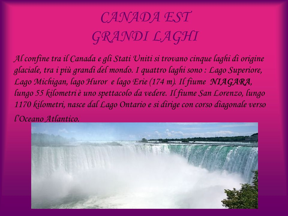 CANADA EST GRANDI LAGHI