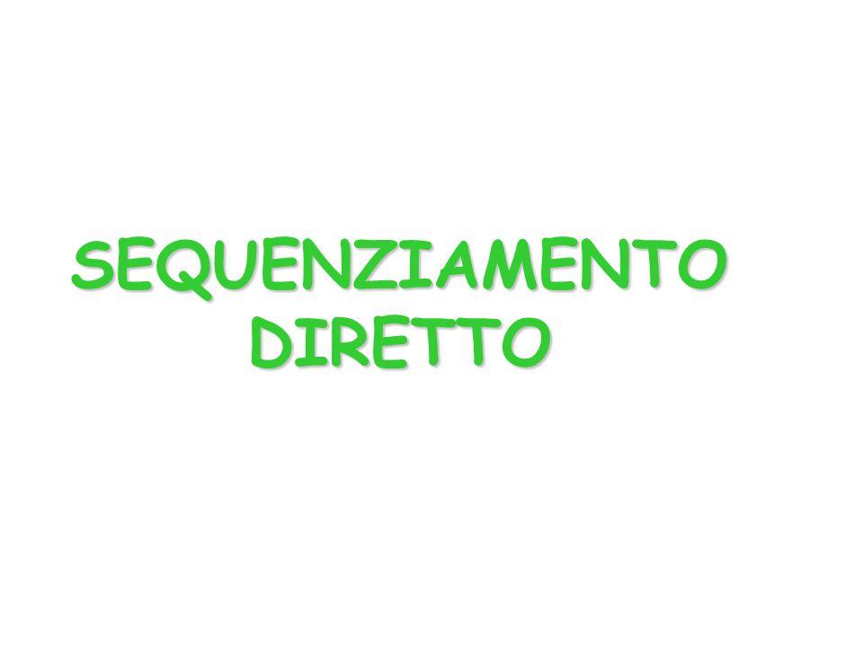 SEQUENZIAMENTO DIRETTO