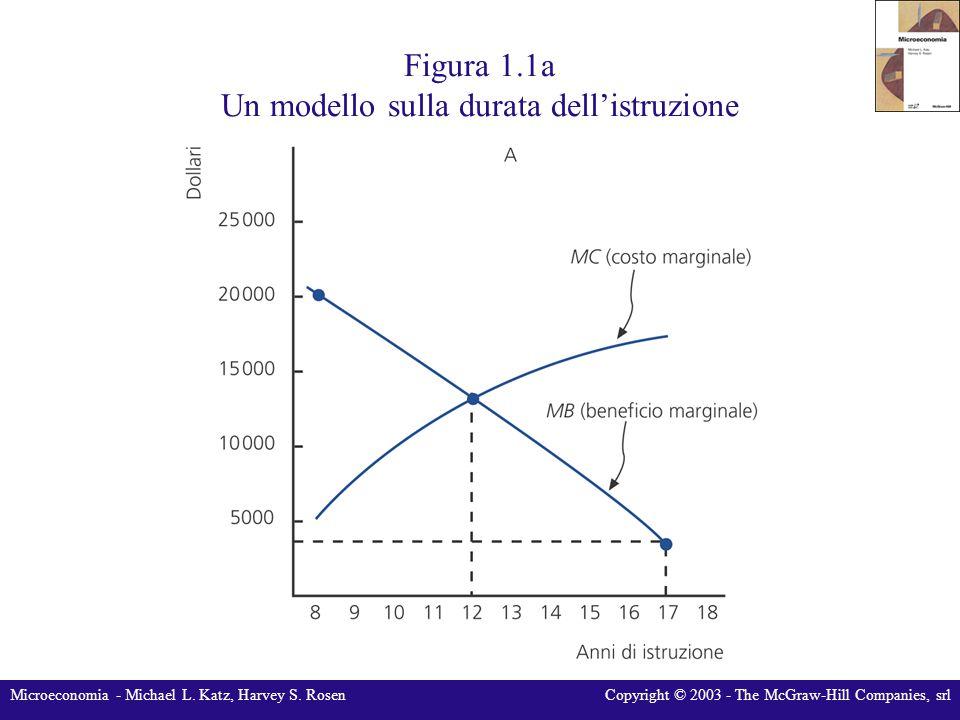 Figura 1.1a Un modello sulla durata dell'istruzione