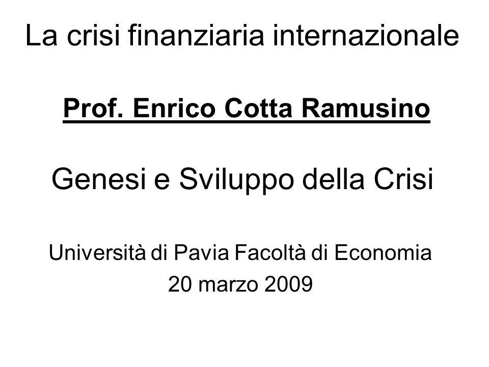 Università di Pavia Facoltà di Economia 20 marzo 2009