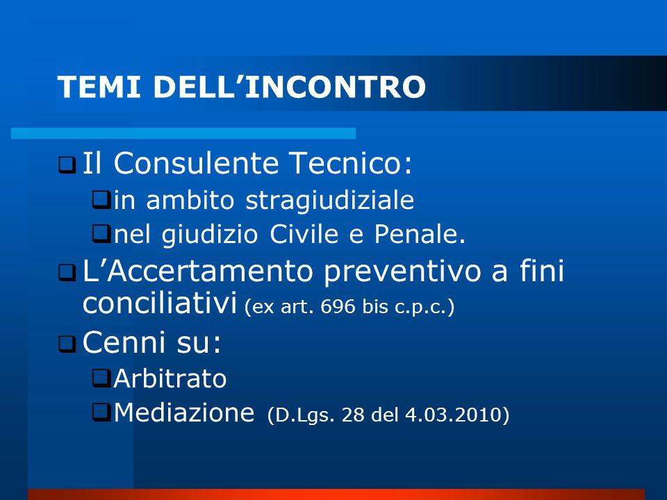 Il Consulente Tecnico: