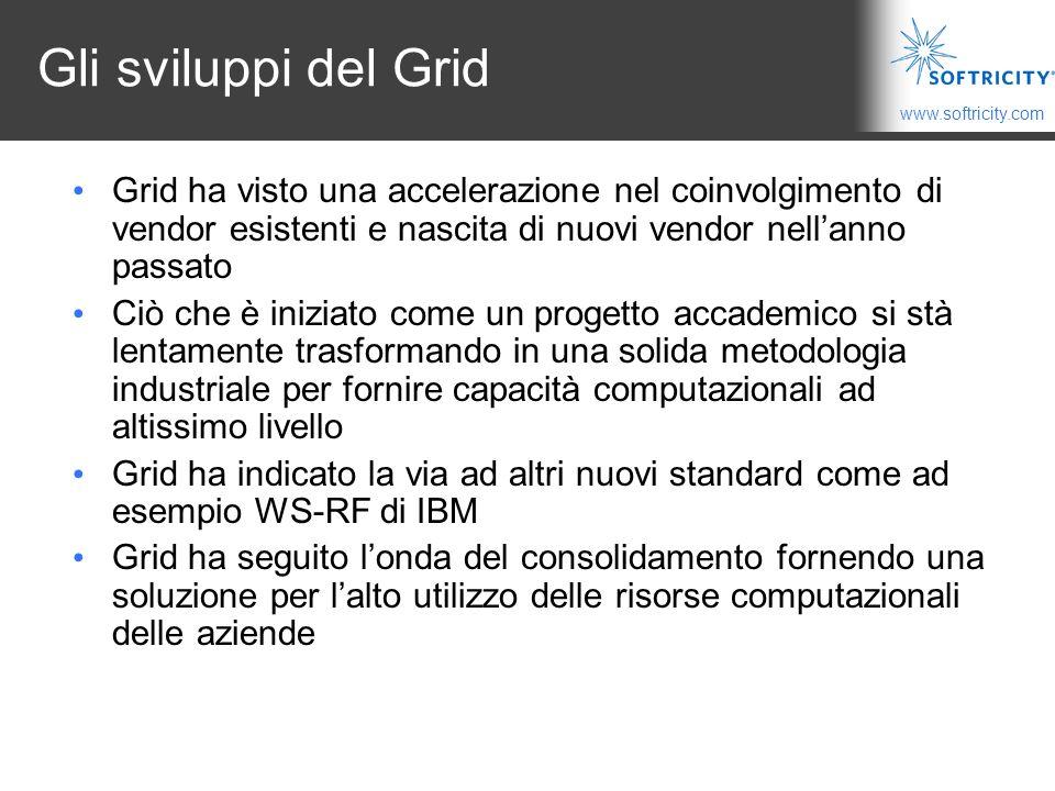 Gli sviluppi del Grid Grid ha visto una accelerazione nel coinvolgimento di vendor esistenti e nascita di nuovi vendor nell'anno passato.