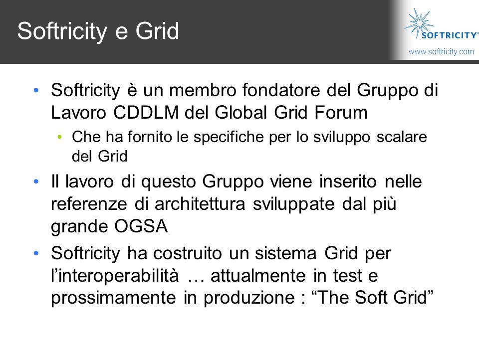 Softricity e Grid Softricity è un membro fondatore del Gruppo di Lavoro CDDLM del Global Grid Forum.