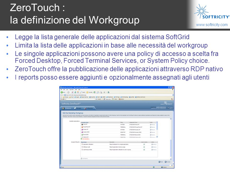 ZeroTouch : la definizione del Workgroup