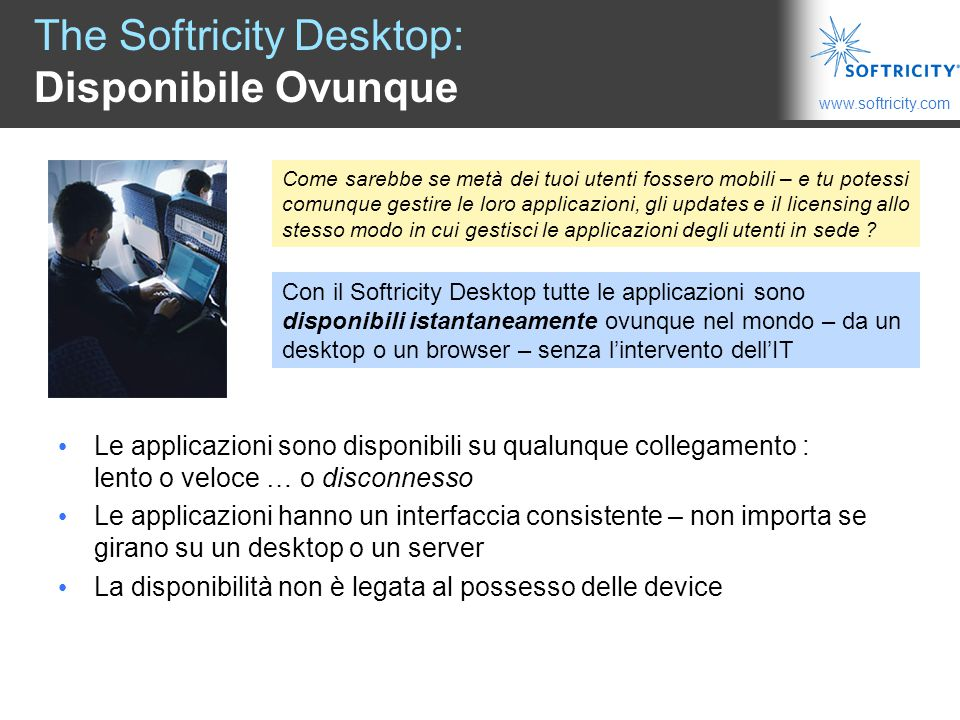 The Softricity Desktop: Disponibile Ovunque