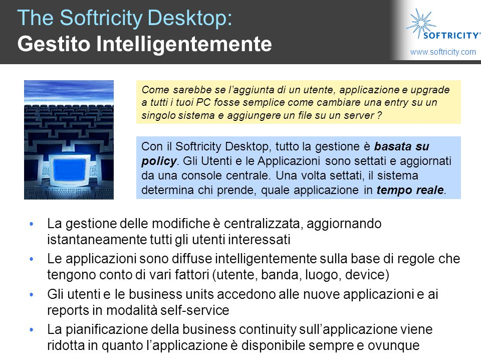 The Softricity Desktop: Gestito Intelligentemente