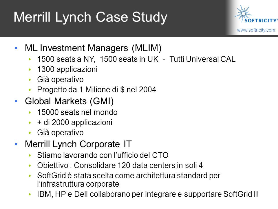 Merrill Lynch Case Study