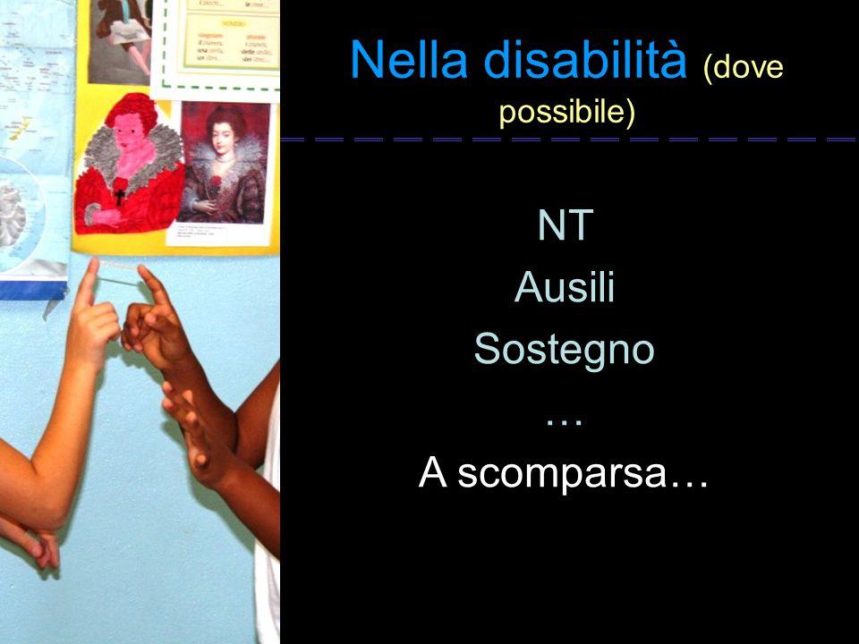 Nella disabilità (dove possibile)
