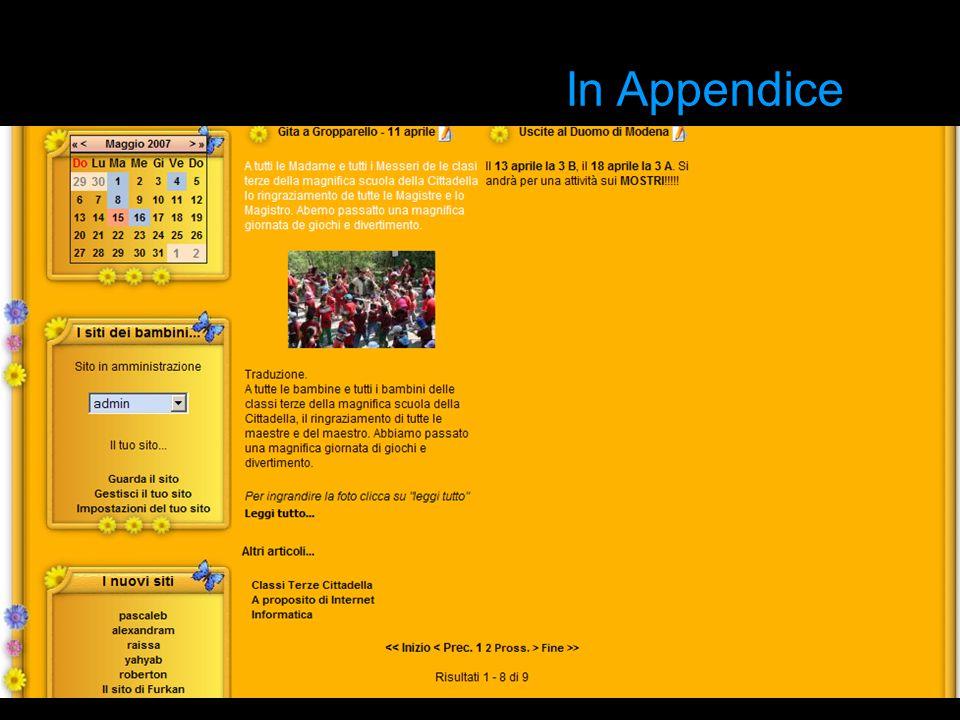 In Appendice