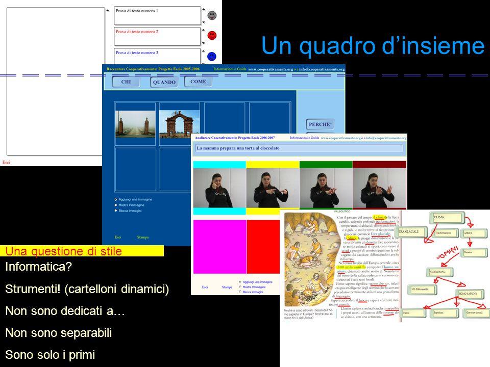 Un quadro d'insieme Una questione di stile Informatica