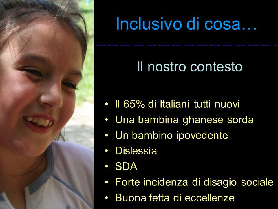 Inclusivo di cosa… Il nostro contesto Il 65% di Italiani tutti nuovi