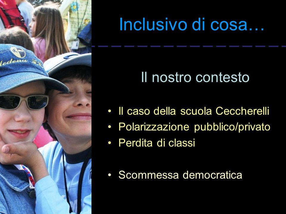 Inclusivo di cosa… Il nostro contesto Il caso della scuola Ceccherelli