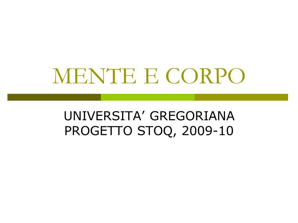 UNIVERSITA' GREGORIANA PROGETTO STOQ, 2009-10