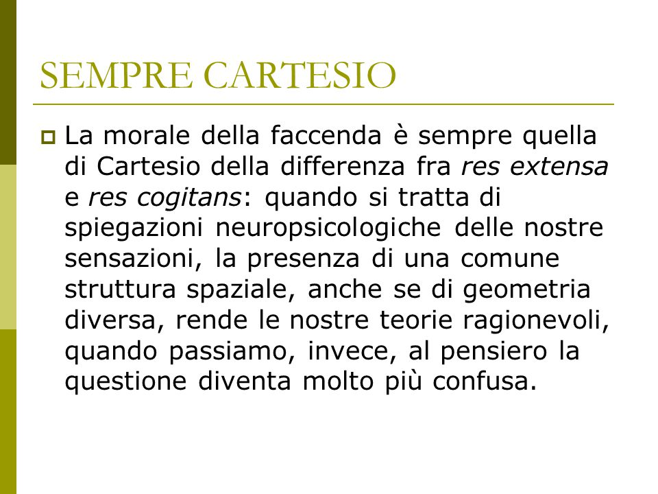 SEMPRE CARTESIO