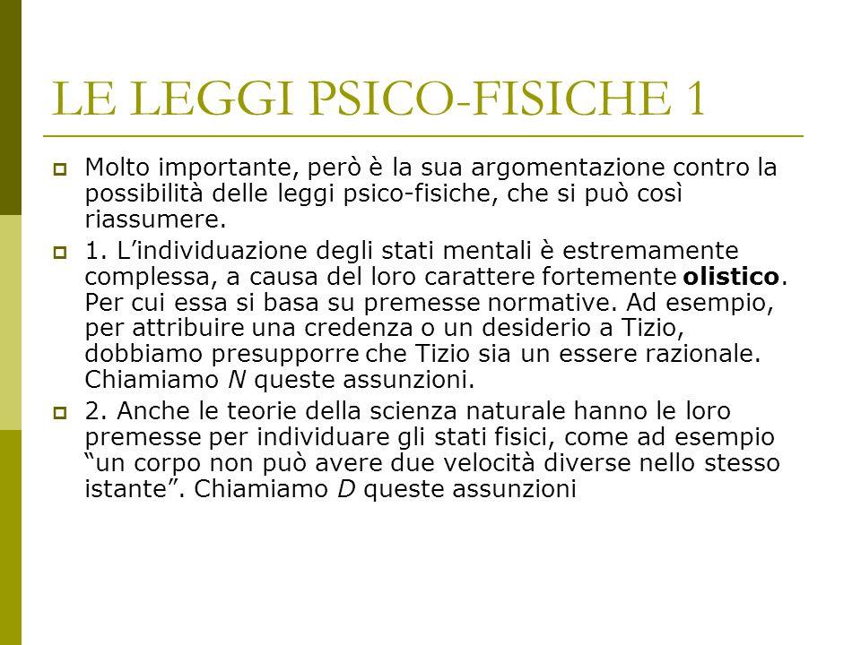 LE LEGGI PSICO-FISICHE 1