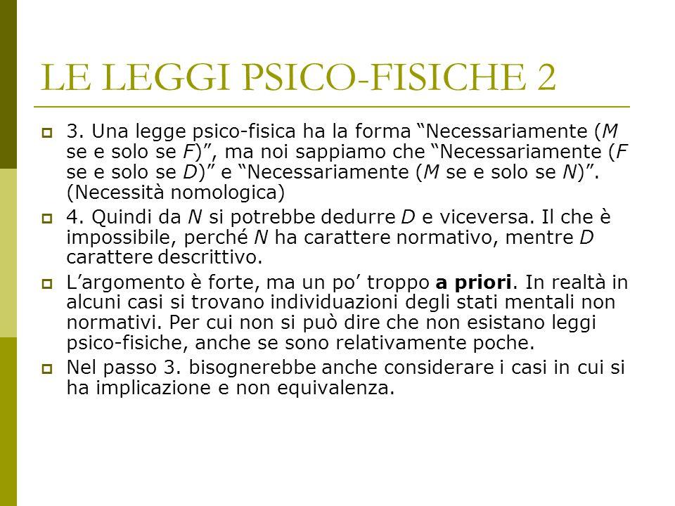 LE LEGGI PSICO-FISICHE 2