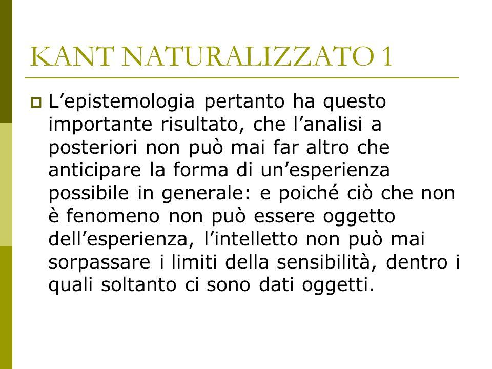 KANT NATURALIZZATO 1