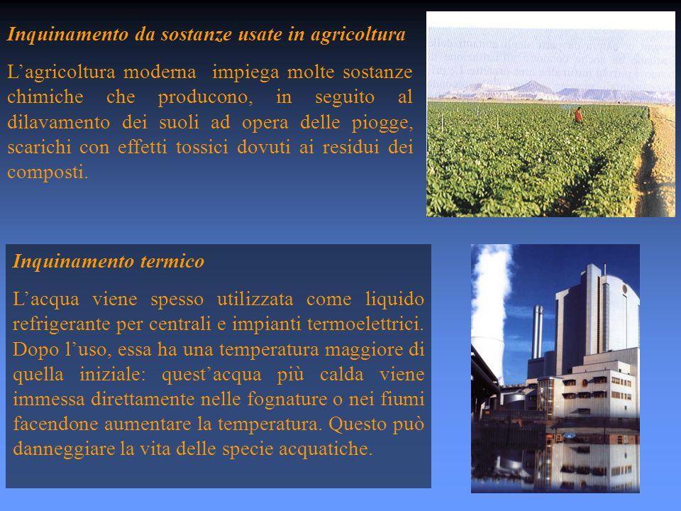 Inquinamento da sostanze usate in agricoltura
