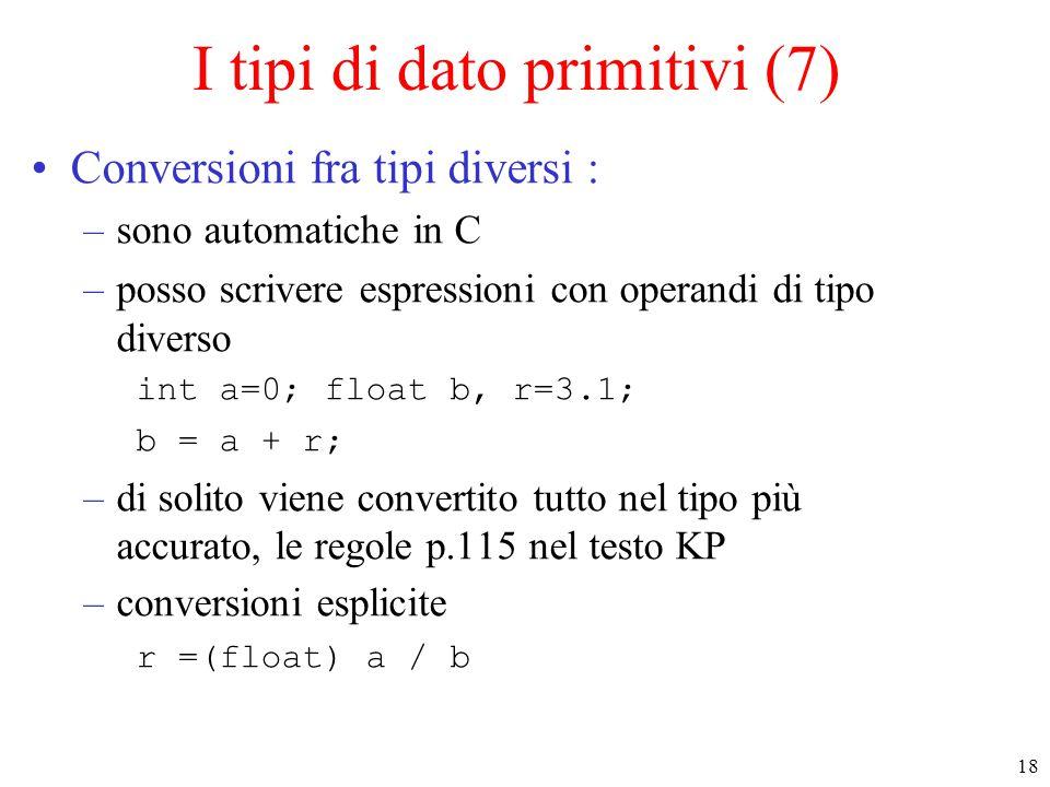 I tipi di dato primitivi (7)