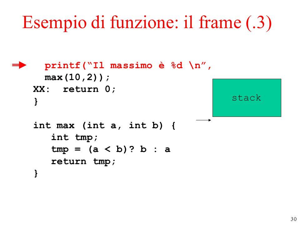Esempio di funzione: il frame (.3)