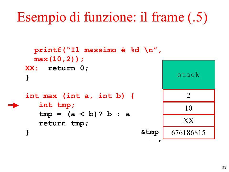 Esempio di funzione: il frame (.5)