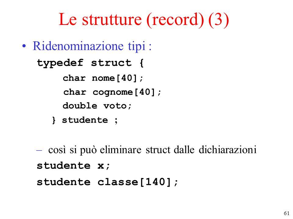 Le strutture (record) (3)