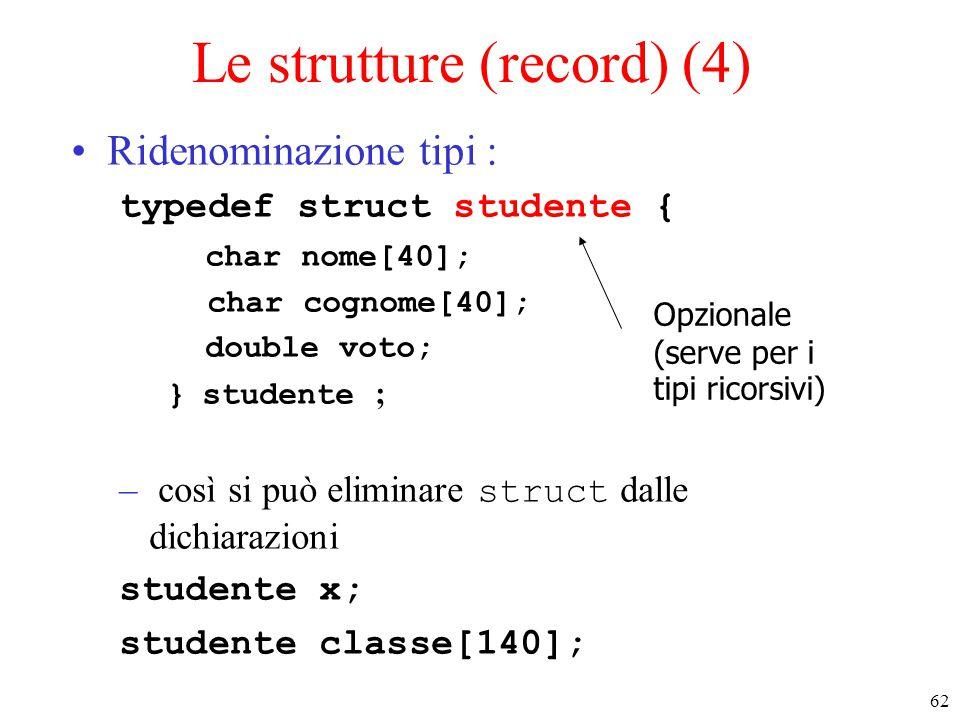 Le strutture (record) (4)