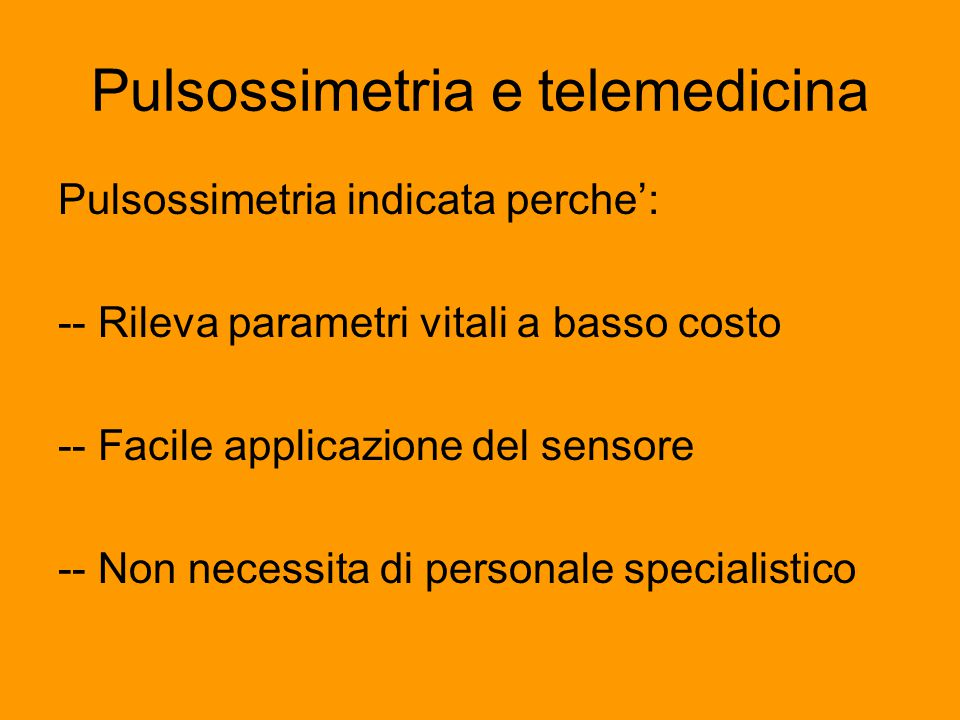 Pulsossimetria e telemedicina