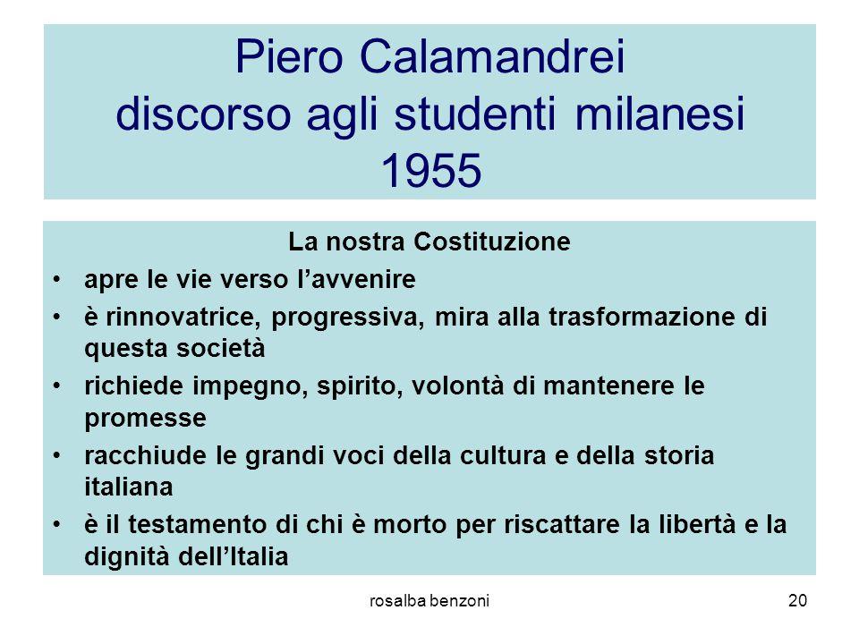 Piero Calamandrei discorso agli studenti milanesi 1955
