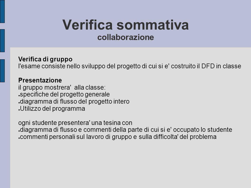 Verifica sommativa collaborazione