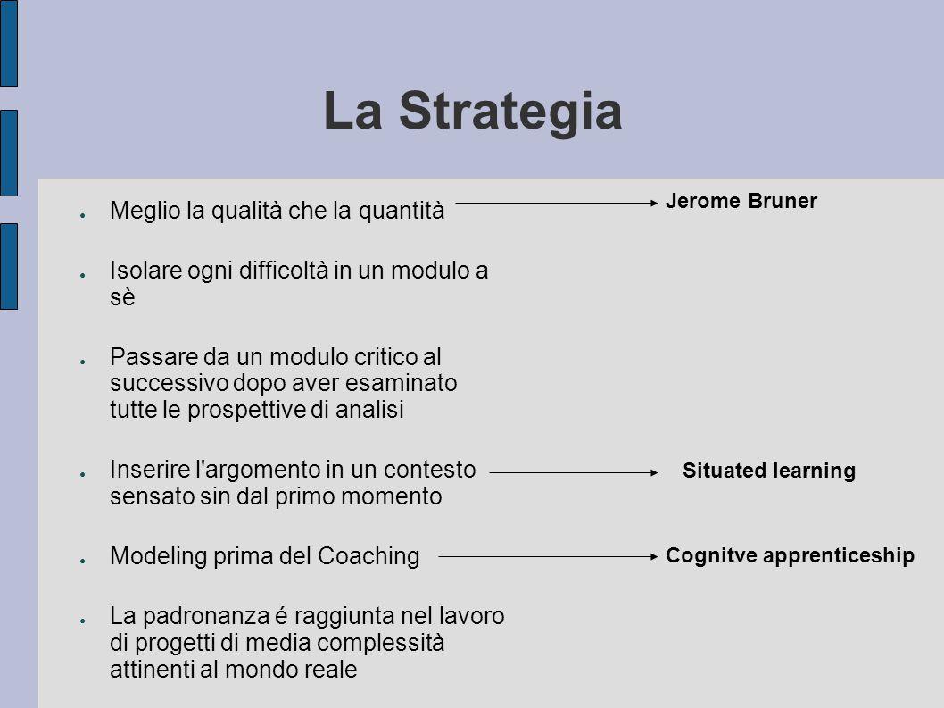 La Strategia Meglio la qualità che la quantità