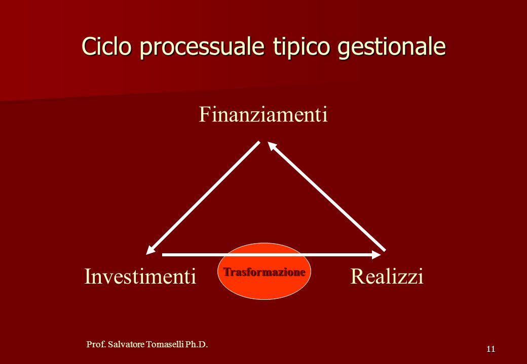 Ciclo processuale tipico gestionale