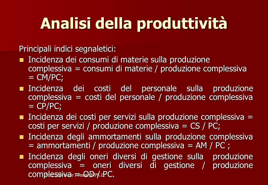 Analisi della produttività