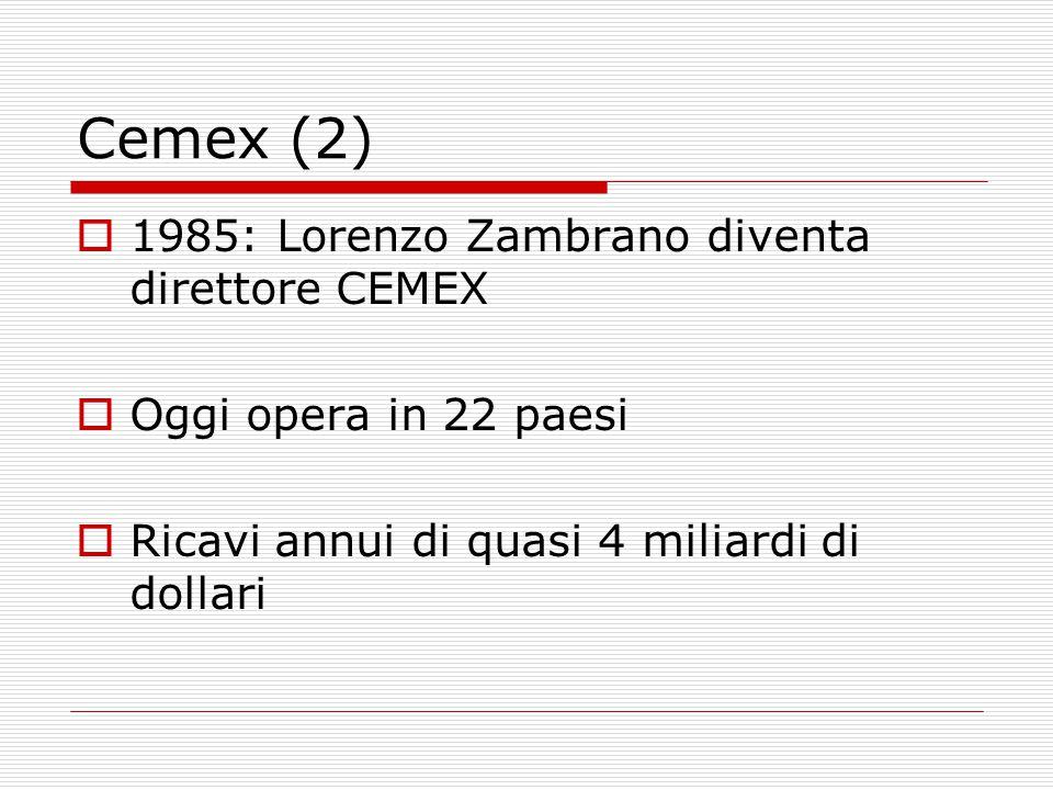 Cemex (2) 1985: Lorenzo Zambrano diventa direttore CEMEX