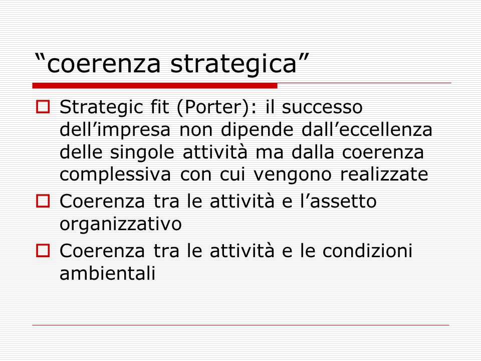 coerenza strategica