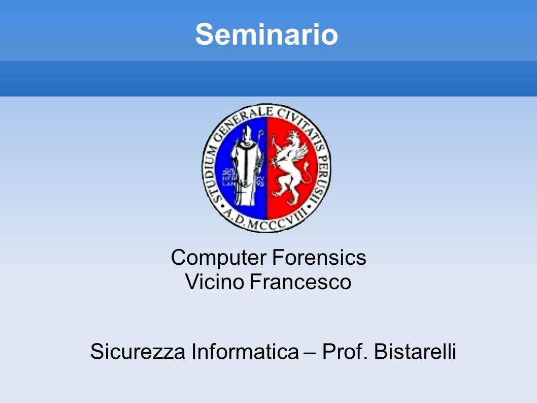 Sicurezza Informatica – Prof. Bistarelli