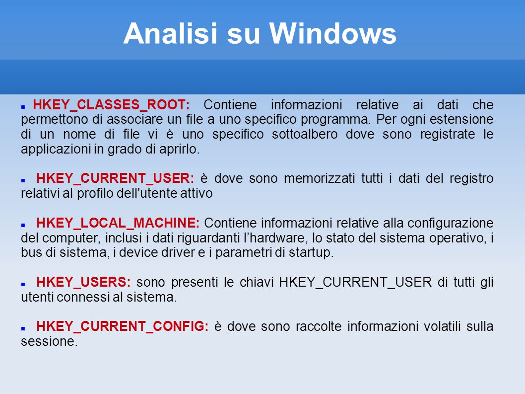 Analisi su Windows