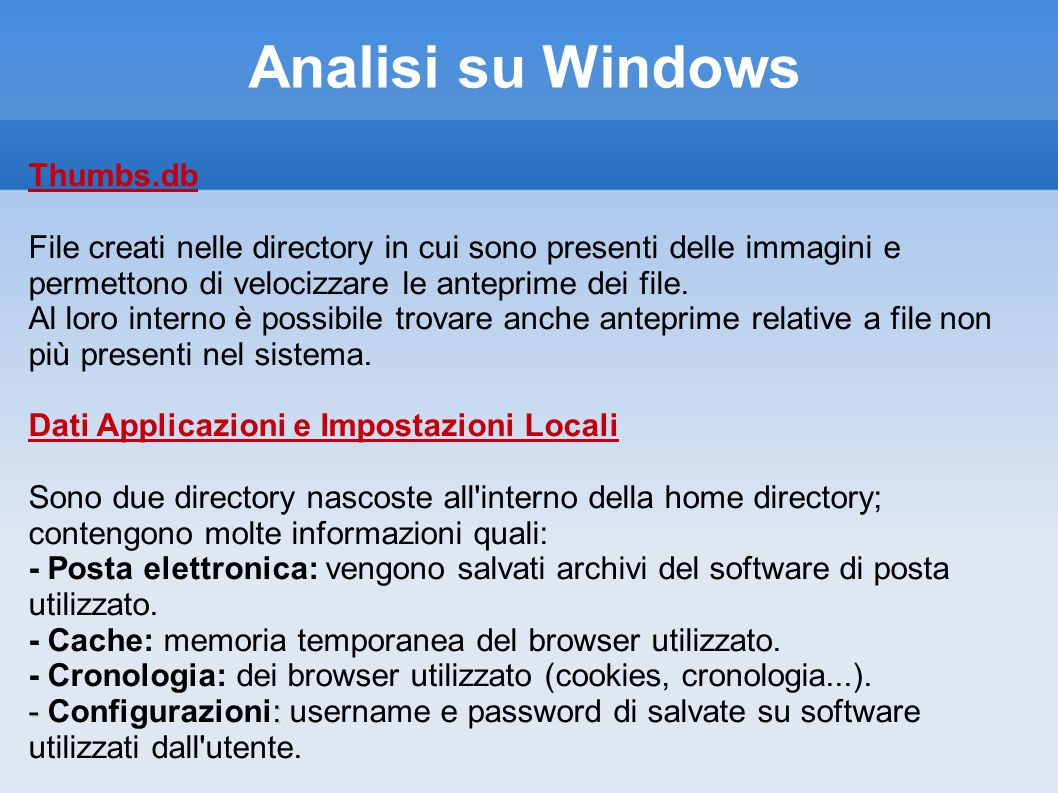 Analisi su Windows Thumbs.db