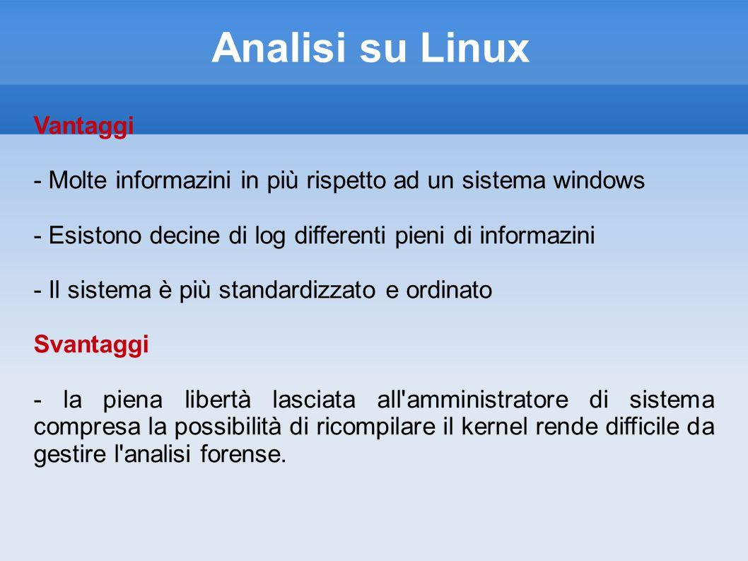 Analisi su Linux Vantaggi