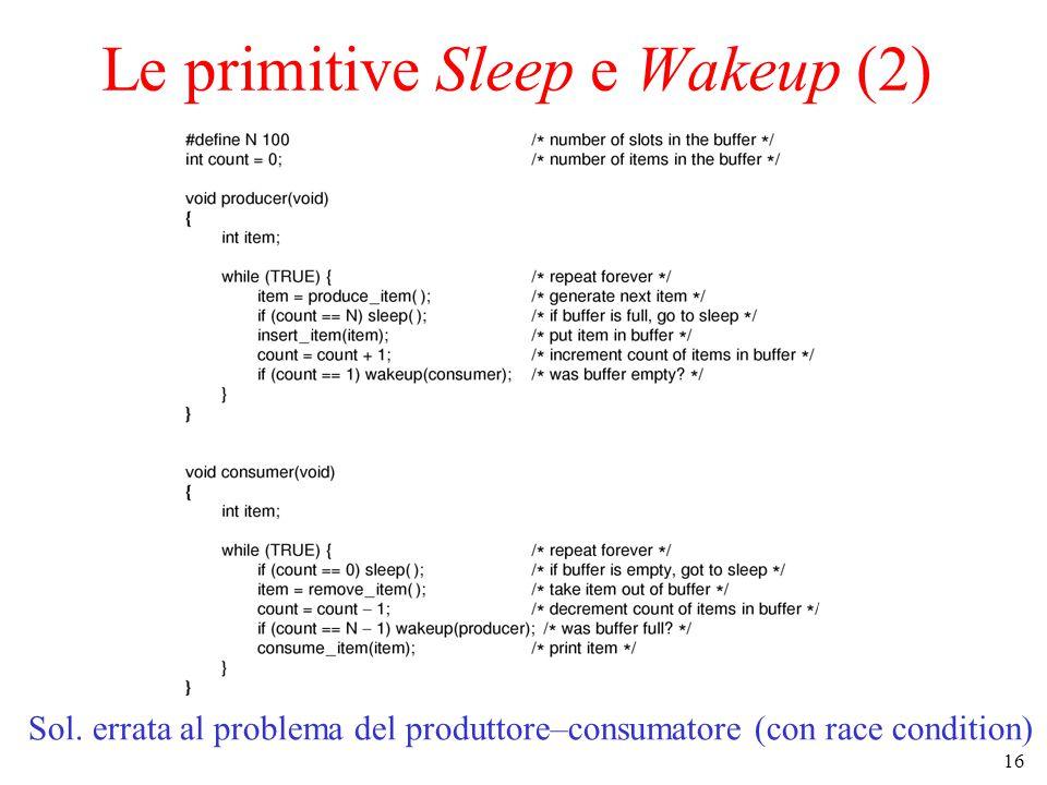 Le primitive Sleep e Wakeup (2)