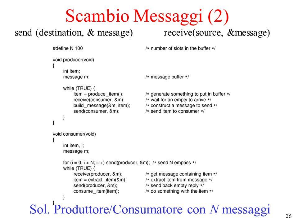 Sol. Produttore/Consumatore con N messaggi