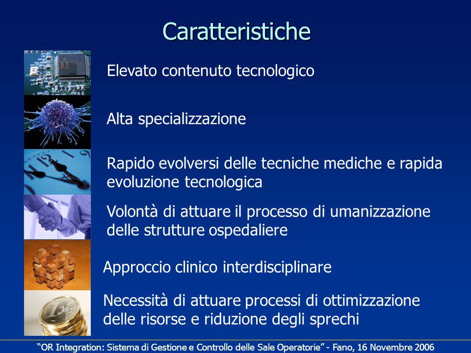 Caratteristiche Elevato contenuto tecnologico Alta specializzazione